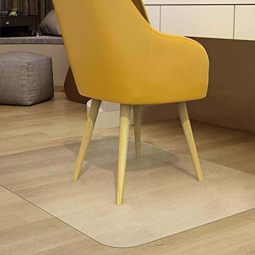 Zinn Alfombrilla de protección de suelo duro transparente para silla de PVC, cubierta impermeable para alfombra, silla de oficina en casa, almohadilla de escritorio, sin BPA ni ftalatos