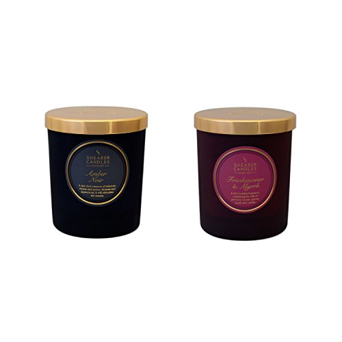 Ja Shearer Duftkerze Twin pack-amber Noir, Weihrauch und Myrrhe, Wachs,, sortiert, 24x 13x 12cm