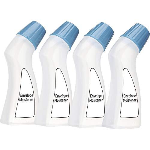 1InTheOffice Envelope Moistener Squeeze Bottle 2 oz, 4 Pack