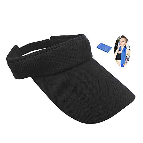 Sun Visor for Women and Men, Visor Protection, Visor Cap Sport Hat Air Leisure Hat Anti-UV Visor for Golf Tennis Running Clothing Jogging Sports – Washable