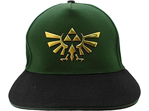 Fashion UK Legend of Zelda - Gorra Snapback para hombre con logotipo de Trifuerza - Talla única - Color verde