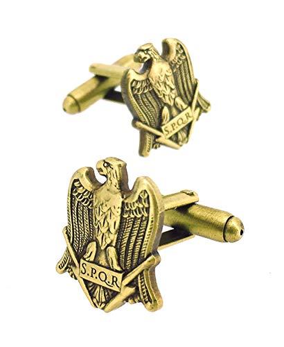 Manschettenknöpfe für Hemd, Adler des römischen Imperiums SPQR