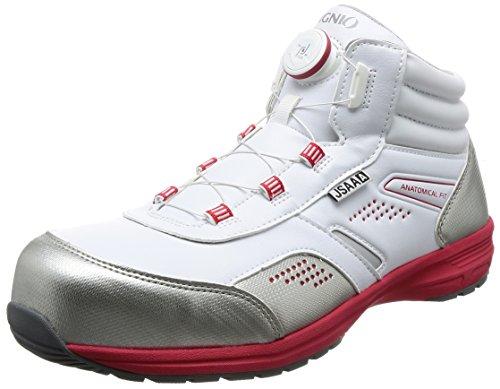 [イグニオ] セーフティシューズ(安全靴) JSAA A種認定 ミドルタイプ TGFダイヤル式 IGS1058TGF ホワイト 30 cm 3.5E