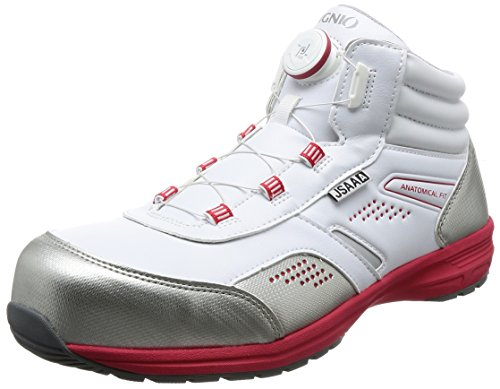 [イグニオ] セーフティシューズ(安全靴) JSAA A種認定 ミドルタイプ TGFダイヤル式 IGS1058TGF ホワイト 29 cm 3.5E