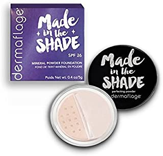 Mineral Powder Foundation for Sensitive Skin, Powder Sunscreen with SPF 26, All Natural Ingredients, Anti-oxidant protection, Made in the Shade by Dermaflage (Medium Cool)