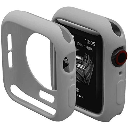 Carcasa de silicona suave Candy para Apple Watch 6 SE 5 4 3 2 1 42MM 38MM Carcasa protectora de cubierta para iWatch 4 5 6 3 2 40MM 44MMBumper