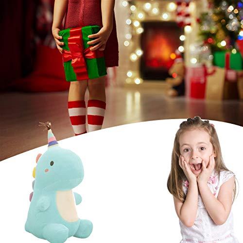 FANGMINGLEI Dinosaur Plush Doll, Cute Dinosaur Plush Toys, Stuffed Dinosaur Toy, Stuffed Animal Dinosaur Plush Toy, Very Good Home Decoration, A For Your Child 50×44cm Blue