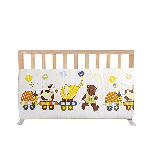 KOSGK Massiv trä säng skyddsräcke, baby sängkant staket anti-fall säkerhetsram (färg: B, storlek: 60 cm)