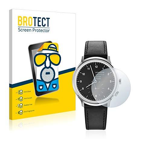 BROTECT 2X Entspiegelungs-Schutzfolie kompatibel mit Mondaine Helvetica No1 2nd time Zone (40 mm) Matt, Anti-Reflex, Anti-Fingerprint