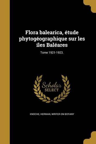 FRE-FLORA BALEARICA ETUDE PHYT