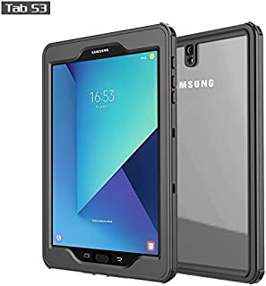 Galaxy Tab S3 Waterproof Case, iThrough IP68/2M Tab S3 (SM-T820) Case, Protect Sleek Shock Drop Rain Snow Proof Underwater Cover for Galaxy Tab S3 9.7 Inches with Built in Screen Protector (Black)