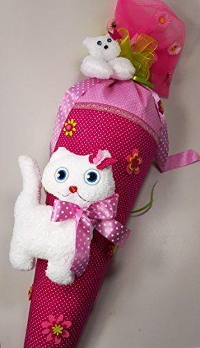 Hobby Welt kreativ Schultüte Nähset, 85 cm, verwandelbar als Kissen mit abnehmbaren Schmusekatzen