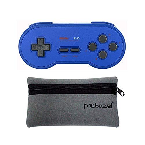 Mcbazel 8Bitdo SN30 GP Blue Edition Bluetooth Gamepad für Windows/Android/MacOS/NS Switch/Steam mit Mcbazel Aufbewahrungstasche
