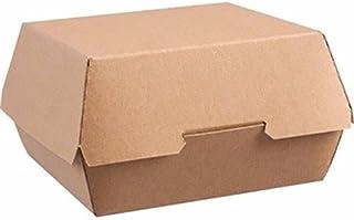 ColPac ge803desechables papel Kraft cajas de hamburguesa, Large (Pack de 250)