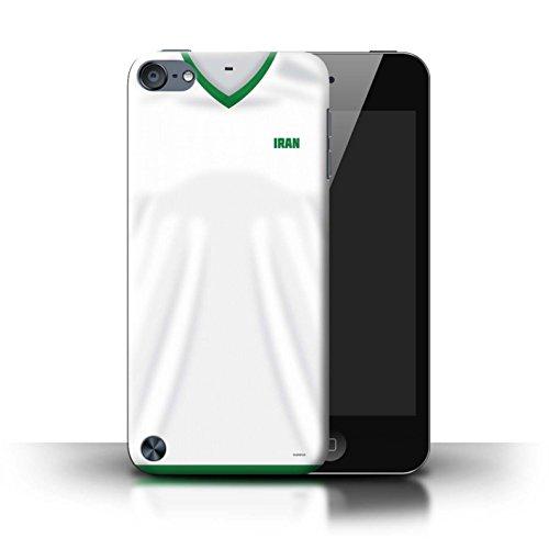Stuff4® Custodia/Cover/Caso/Cassa Rigide/Prottetiva Stampata con Il Disegno Coppa Mondo 2018 Maglietta Calcio per Apple iPod Touch 5 - Iran/Iraniana
