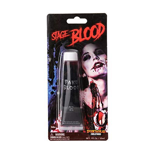 Spooktacular Creations 1 oz Fake Halloween Vampire Blood Tube for Halloween Costume, Zombie, Vampire and Monster Makeup & Dress Up