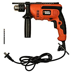 BLACK+DECKER KR554RE 550-Watt 13mm Variable Speed Reversible Hammer Drill Machine & Dewalt Masonry Bit 5.0 mm x 85.0 mm