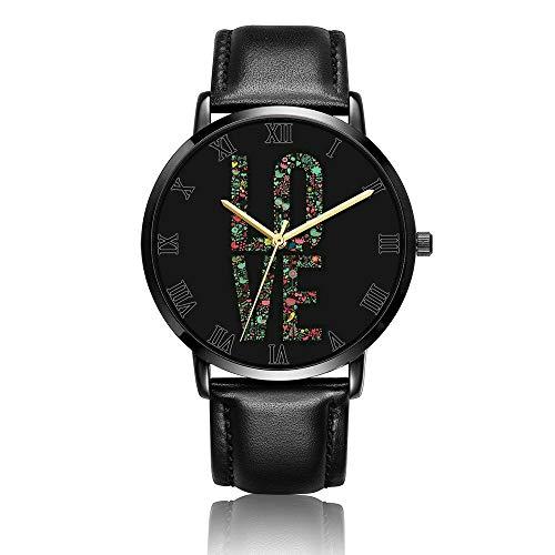 Orologio da Polso al Wrist Watch Analogue Quarzo con Cinturino in PU Watches Amore