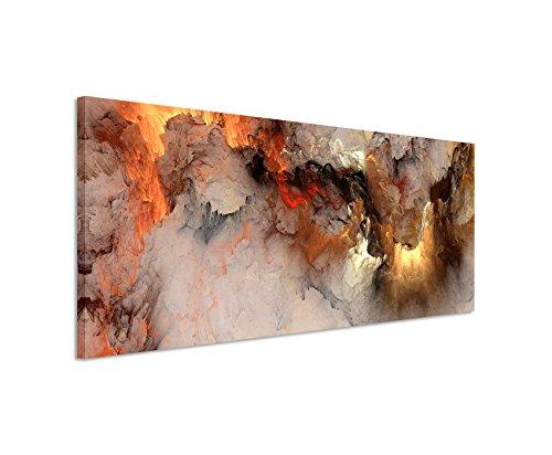 Panoramabild 150x50cm Gemälde abstrakt modern chic chic dekorativ schön deko schön deko er Wolken mit Lichtdurchbruch auf Leinwand exklusives Wandbild moderne Fotografie für ihre Wand in vielen Größen