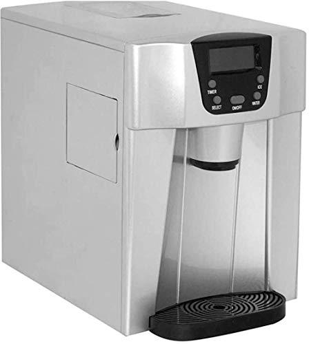 Aanrecht ijsblokjesmachine, mini automatische elektrische ijsblokjesmachine draagbare kleine minuten kogelijsblokjes in 24 uur elektrische ijsblokjesmachine koud water dispenser
