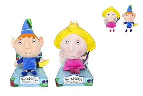 El pequeño Reino de Ben y Holly - Peluches Ben & Holly Calidad Super Soft (25cm, Pack Ben & Holly)