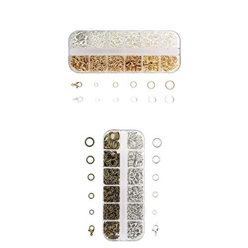 MagiDeal Paquete de 2 Cierres de Langosta Abiertos Mixtos para Suministros de Manualidades de Joyería de Abalorios de Bricolaje
