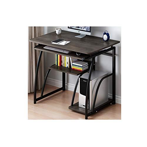 Escritorio de computadora Escritorio con estanterías, escritorio de oficina con estante de almacenamiento Estudio industrial Estudio de escritura Tabla Laptop Gaming Desk For Home Office Work Escritor