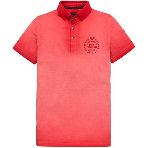 PME Legend Herren Poloshirt Light Pique Cold Short Sleeve Racing red rot - XXXL