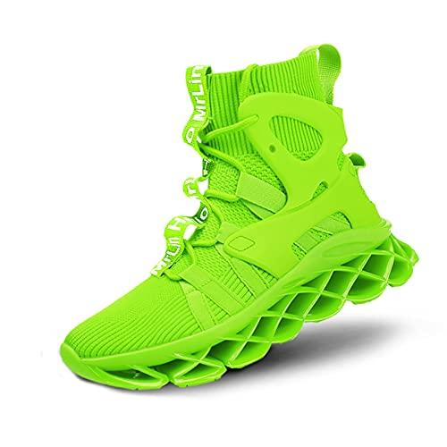 Hello MrLin Running Shoes Womens Comfortable Fashion Non Slip Sneakers Walking Gym Tennis Sport Athletic Shoes Hip Hop Green
