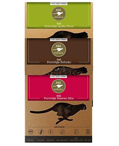 eat Performance® Variety Porridge Box (3x 325g) - Bio, Paleo, Glutenfreies Frühstück