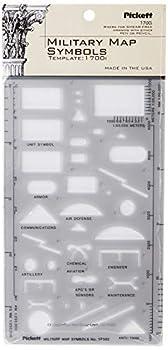 Pickett Military Map Symbols Template  1700I