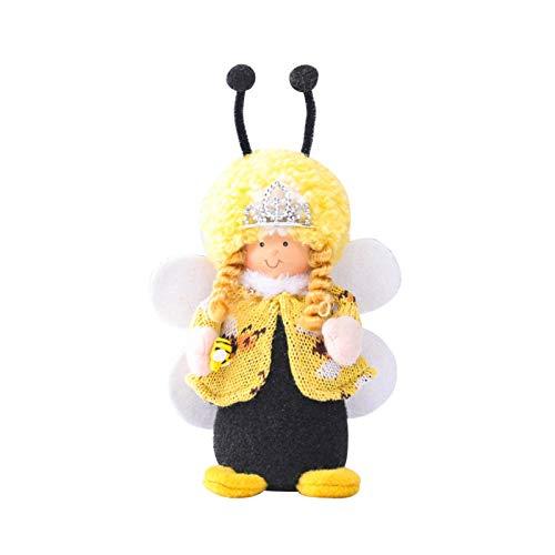 Adornos de decoración de abejas de lana de punto, diseño creativo de abeja para decoración del Día Mundial de la Abeja, fiesta de abeja en forma de abeja, regalo para amigos y familia