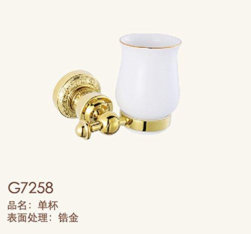 XBR les toilettes se tasse rack, golden sculpté, tasse rack se tasse rack, brosse les dents,l'or rose