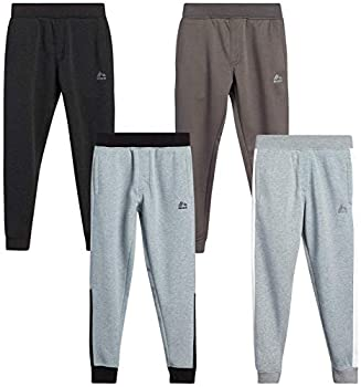 RBX Boys  Sweatpants ? Active Warm-Up Track Fleece Jogger Pants  4 Pack  Size 18/20 Grey Heather/Black Heather Grey Heat