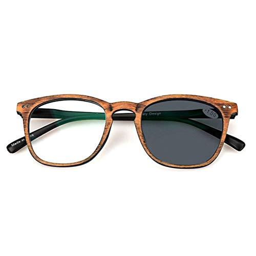 ZHANGYY Lesebrille, photochrome Progressive Progressive Mehrfokus-Sonnenbrille, Strahlenschutz, UV-Schutz, Farbwechsel im Freien, für Herren/Damen