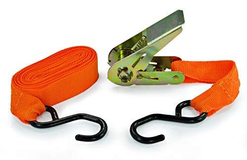 Spanngurt Spannband Zurrgurt 1 Set mit 1 Ratsche und 2 Haken 4,5m lang - 1 Set = 2 Teile