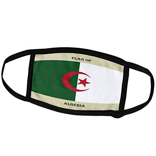 3dRose fm_210385_1 Face Mask Large Gesichtsmaske, Polyester, Flagge Algerien