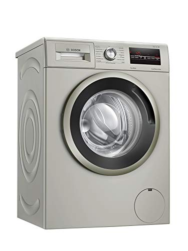 Bosch WAN282X0 Serie 4 Waschmaschine Frontlader / D / 69 kWh/100 Waschzyklen / 1388 UpM / 7 kg / silber-inox / EcoSilence Drive™ / AllergiePlus