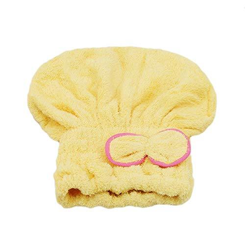 JINMENHUO Mikrofaser nach dem Duschen Haartrocknen Wickel Damen M?dchen Damen Handtuch Schnelltrocknendes Haar Hut Kappe Turban Kopfwickel Badezus?TZE, gelb