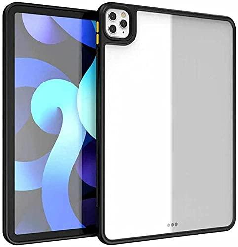 Estuche para iPad Pro 12.9 Pulgadas 2021 5.a generación, Delgado, liviano, Transparente, Transparente, Carcasa Trasera, Suave TPU Air-Pillow Edge Bumper Cojín (Black)
