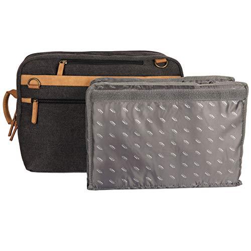 Kalahari GOPE K-53 + BI-BP1 Rucksack/Messenger Bag, anthrazit grau