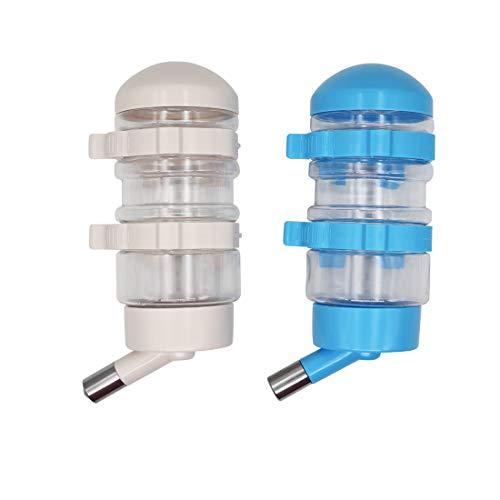 MYB Supplies 2pcs Trinkflasche Kaninchen Mit Schnalle 400ml, Kaninchen Nippeltränke, Kleintiertränke Kaninchen Tränke