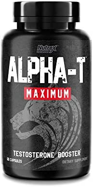 Nutrex Research Alpha T Maximum Testosterone Booster Increase Energy Muscle Strength Stamina product image