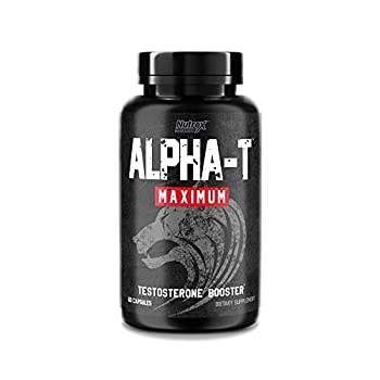 Nutrex Research Alpha T Maximum Testosterone Booster for Men - Increase Strength Energy Lean Muscle Builder Stamina and Libido   Mens Natural Test Booster Supplement - 60 Count