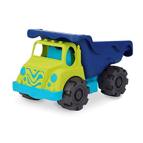 "B. toys by Battat Colossal Cruiser – 20"" Large Sand Truck – Beach Toy Dump Trucks for Kids 18 M+ (Lime/Navy), led-anti-stress-ball-125 (BX1429C1Z)"