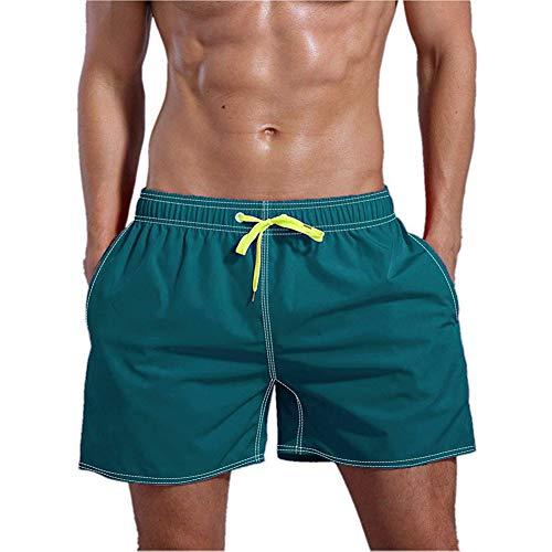 Haomei Zwembroek voor heren, sneldrogend strand, surfshorts katoen, waterdicht, zwemkleding zomer, sportbroek, bordshorts S-XXL