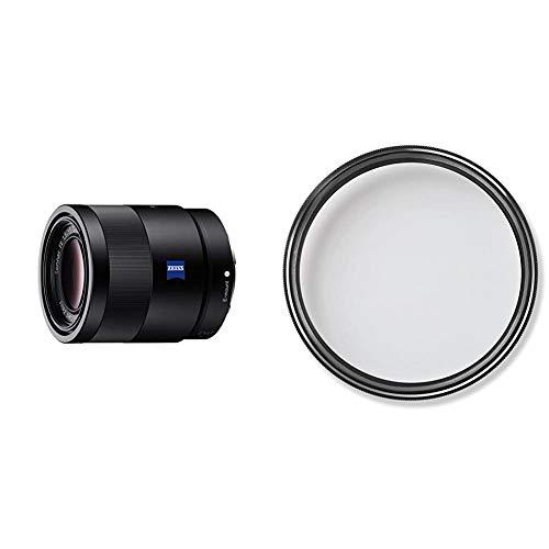 Sony SEL-55F18Z Zeiss Standard Objektiv (Festbrennweite, 55 mm, F1,8, Vollformat, E-Mount) schwarz & ZEISS T* UV Filter 49 mm (UV- und Schutzfilter, mit ZEISS T* Anti-Reflexbeschichtung)