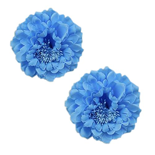 2PCS élégant fleur cheveux cheveux clip décoration pour les dames, Bleu