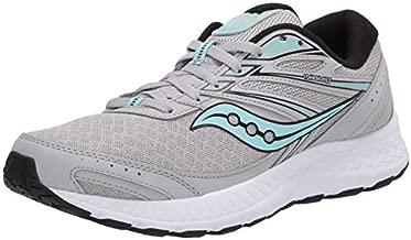 Saucony Women's Cohesion 13 Running Shoe, Grey/Black, 9