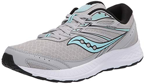 Saucony Women's Cohesion 13 Running Shoe, Grey/Black, 8